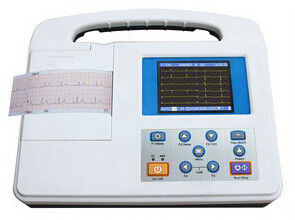 Large LCD Screen 12 Lead Ecg Machine , Rs232 and USB Interface